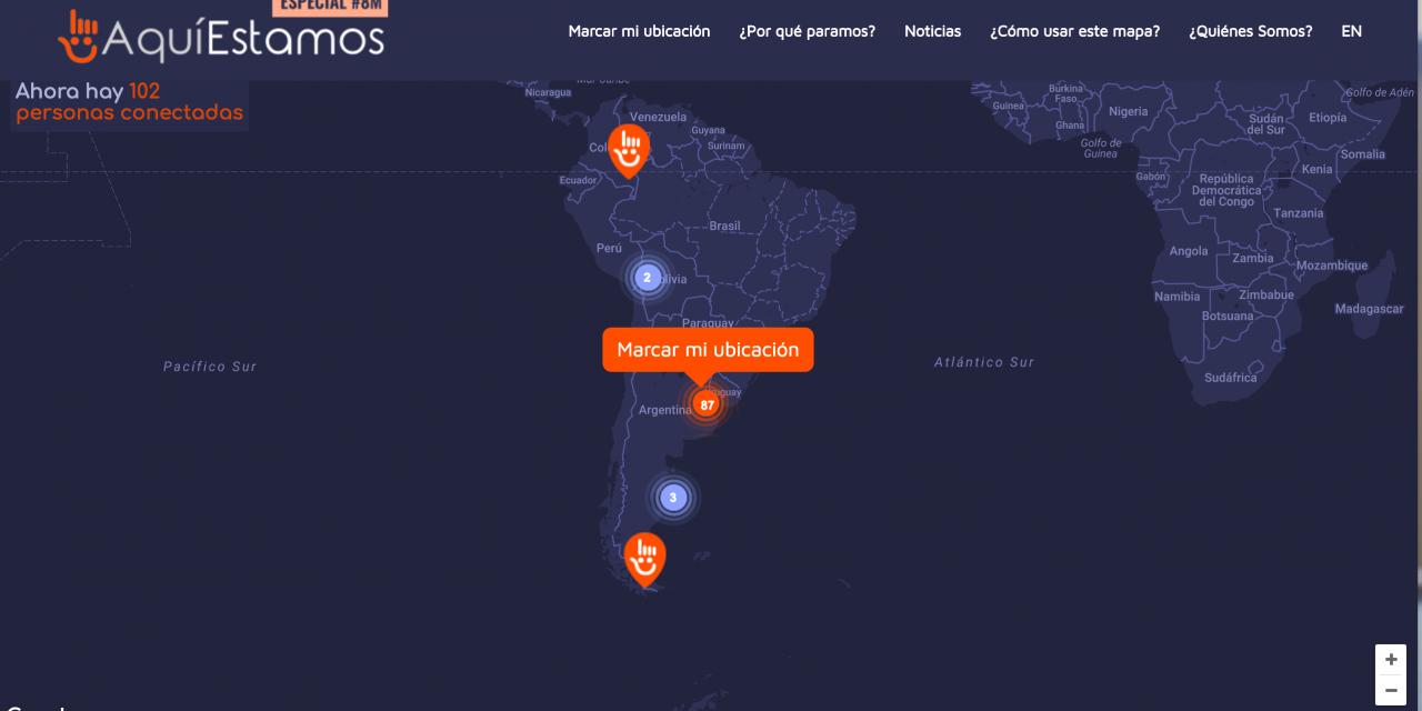 El mapa del paro #8M, el tiempo real de la adhesión