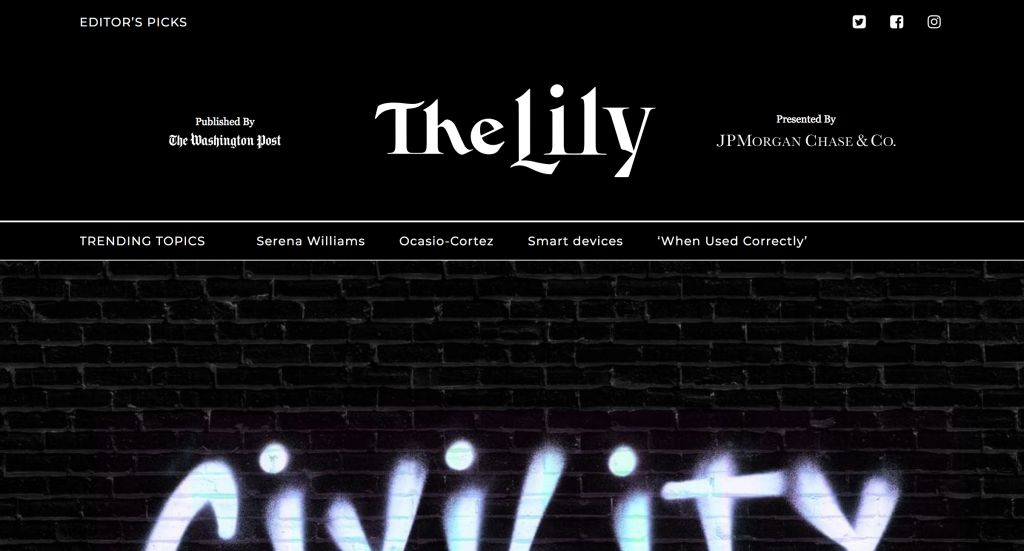The Lily web