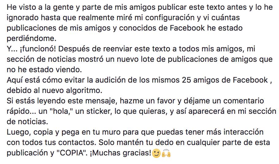 Cadena Facebook