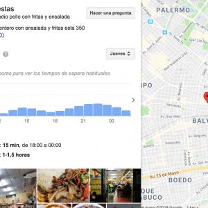 Nuevas funciones gastronómicas de Google Maps